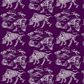 dinosaur sketches purple
