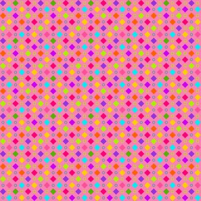 Checkerboard Fancy Happy Pink Mini