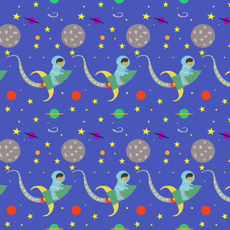 Rocket girl to the moon back blue fabric for Rocket fabric