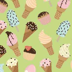 Ice-cream Green