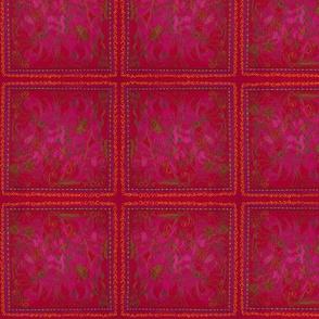 Red stain glass garden
