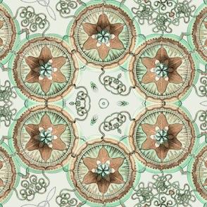 Haeckel Trachymedusae Jellyfish ~ Damask
