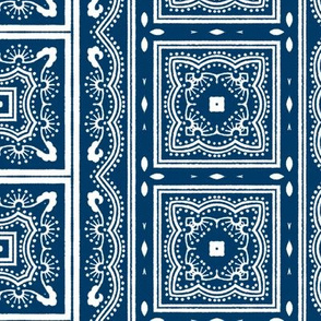Chinese Indigo Tiles ~ Bian ~ Variation Yi