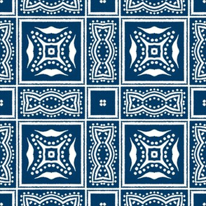 Chinese Indigo Tiles ~ Bian ~ Variation Lio