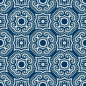 Chinese Indigo Tiles ~ Bian ~ Variation Jio