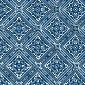 Chinese Indigo Tiles ~ Bian ~ Variation Shyr SS