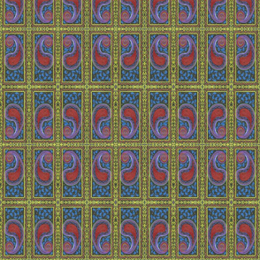 Bordered Red Paisley - small
