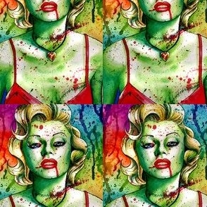 marilyn monroe zombie blood