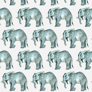 Elephant Herd - Smaller Scale