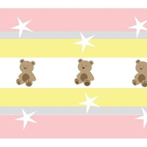 Stars & Stripes-teddy pink