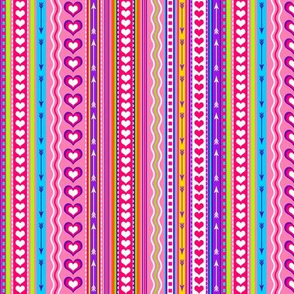 Valentine Stripes Multi