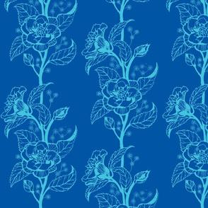 indian garden in blue