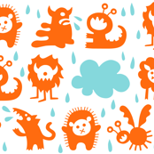 It's raining Monsters (orange)