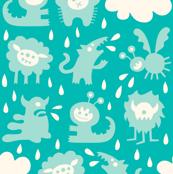 It's raining Monsters (turquoise)