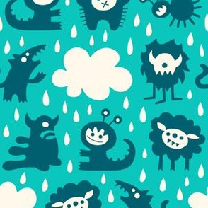 It's raining Monsters (turquoise)