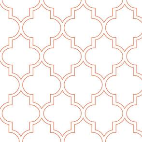 Moroccan Outline Quatrefoil in Tangerine
