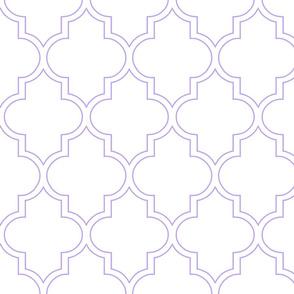 Moroccan Outline Quatrefoil in Lavender