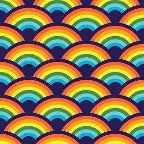 Rainbows! Rainbows! Rainbows! (navy)