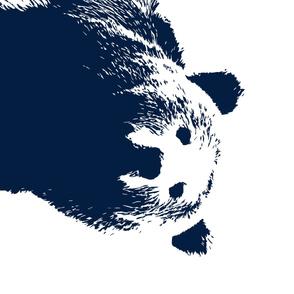 "Navy Bear // 1 yard cut  (42"" width)"