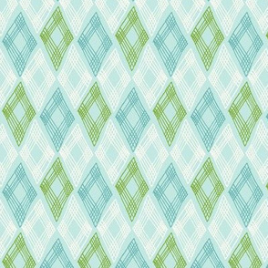 diamonds pattern - blue
