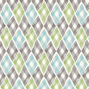 diamonds pattern -white
