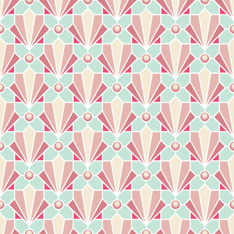 pink deco shell and pearl