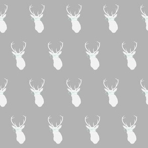 Smarty Pants Deer, Gray and Mint