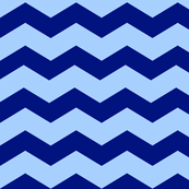 Blue Chevron - Mix & Match Kids