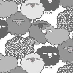 Sheep Shape (gray) 12in