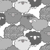 Sheep Shape (gray) 12in