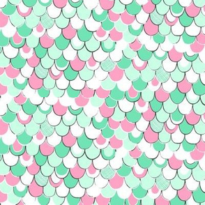 Scale Away (mint/pink)
