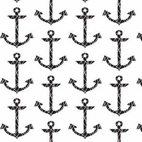 Anchor mosaic black