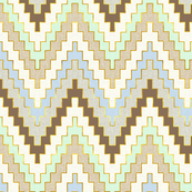 Luxe Chevron in Blue and Mint