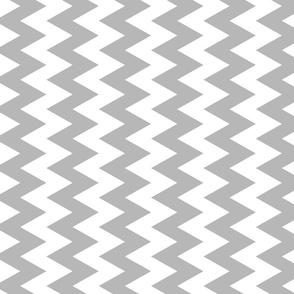 Grey And White Zigzag
