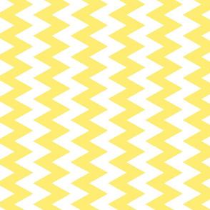 Yellow And White Zigzag