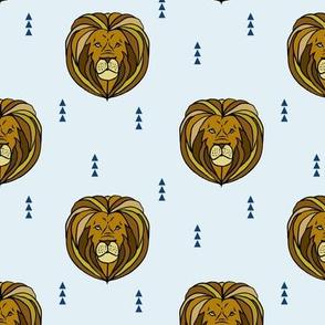 lion // blue