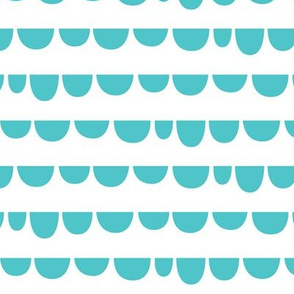 Sunny Stormy Scallops Teal