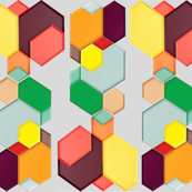 geometric tray fabric