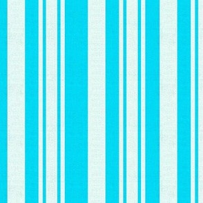 Turquoise And White Stripes