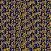 Spiral Lions Gold Navy 3