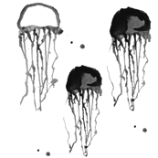 jelly fish LARGE PRINT - elvelyckan