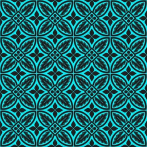 Black And Teal Tiles