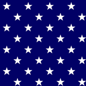 American Flag Stars White Blue