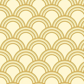 Art Deco Scallop, Gold