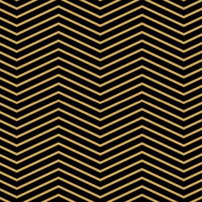 Art Deco Chevron, Black and Gold