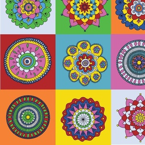 Mandala Cheater Quilt