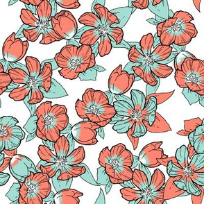 Mallow - Coral & Mint