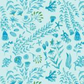 sea flowers blue