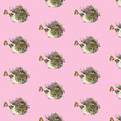Hedgehog Garden (pink)