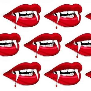 Vampire lips of blood